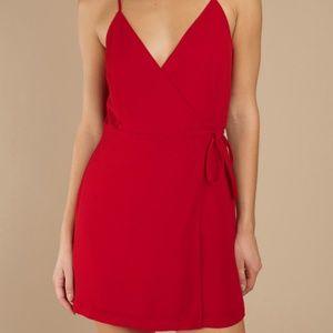 Tobi Maria Red Wrap Dress